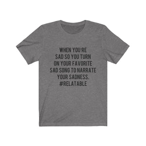 Relatable Music T-shirt