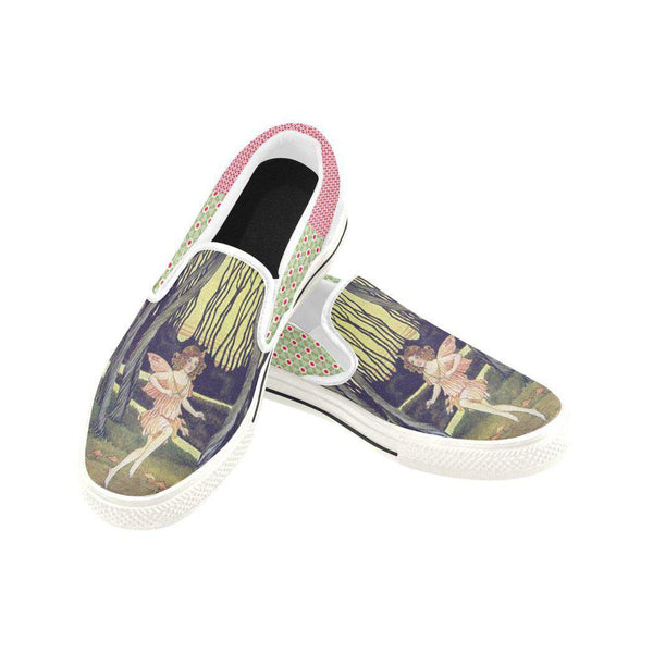 Woodland Fairy Canvas Slip-ons, Shoe- WhimzyTees