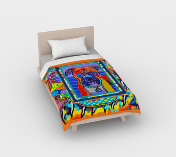 Indigo Dog Duvet Cover