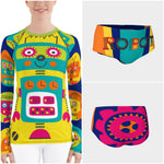 Clifford Robot Rash Guard - WhimzyTees