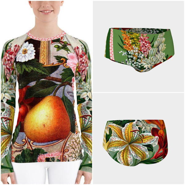 Juicy Fruit Rash Guard, Rashguard- WhimzyTees