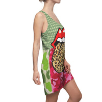 Green Apple Leopard Racerback Dress - WhimzyTees
