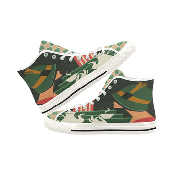 Cafe Deluxe Canvas Hi-Tops