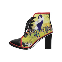 Central Park West Heeled Boot, Shoes- WhimzyTees