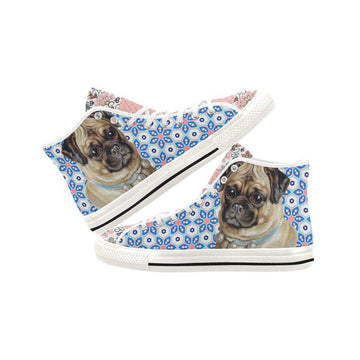 Jingle Pug Canvas Hi-Tops