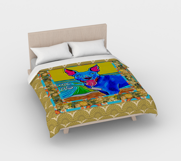 Seaside Pittie Duvet Cover