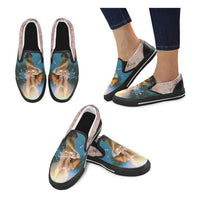 Mother Moon Canvas Slip-ons, Shoe- WhimzyTees