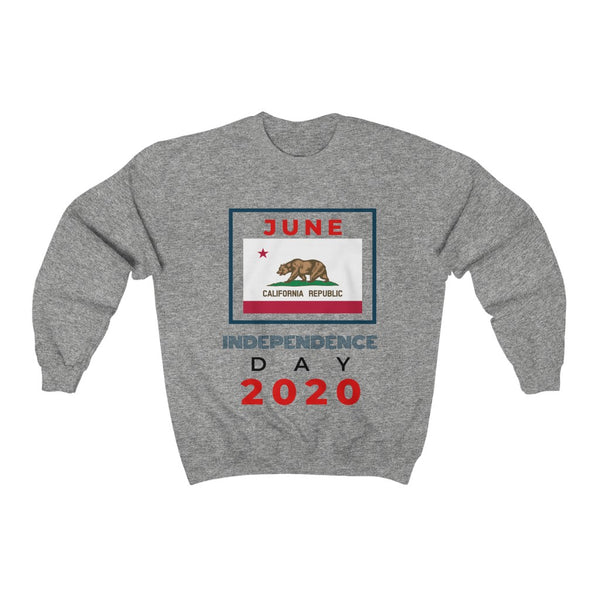 Independence Day 2020 - California HD Crewneck Sweatshirt, Flipit Red- WhimzyTees