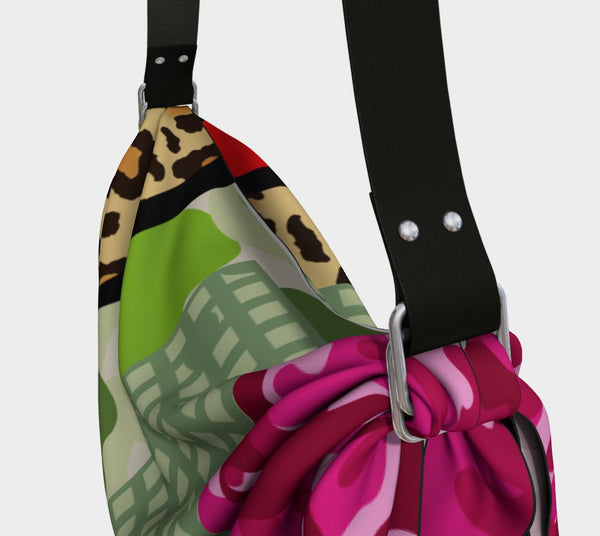 Green Apple Leopard Hobo, Bag- WhimzyTees