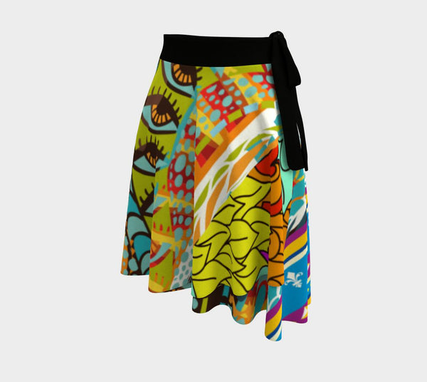 Glorious Day BLM Wrap Skirt, Skirt- WhimzyTees
