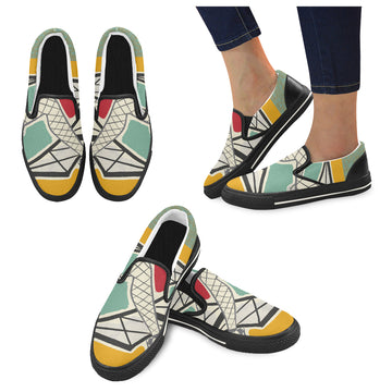 Paris Folies Canvas Slip-ons (Unisex)