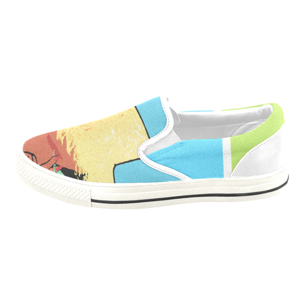 Tahiti Girl Canvas Slip-ons (Unisex), Shoes- WhimzyTees
