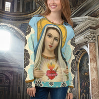 Sacred Heart Sweatshirt, Sweater- WhimzyTees