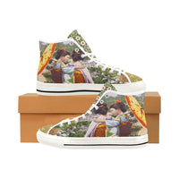Kyoto Gardens Canvas Hi-Tops - WhimzyTees