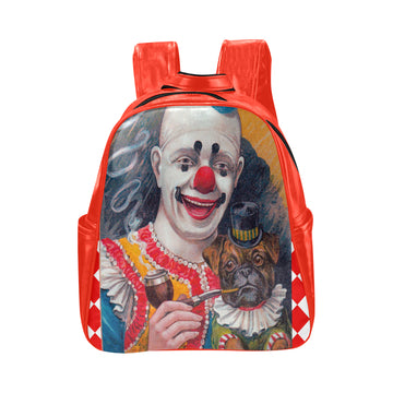 Clowning Around Vegan Leather Backpack