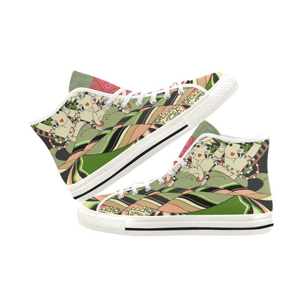 CanCan Girls Canvas Hi-Tops, Shoe- WhimzyTees