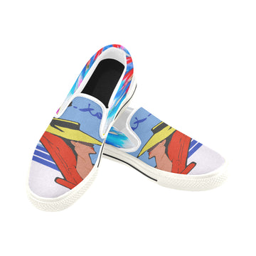 Relax Go to IT! Blue Canvas Slip-ons (Unisex)