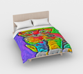 Rave Kitty Duvet Cover