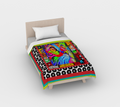 Rainbow Kitty Duvet Cover