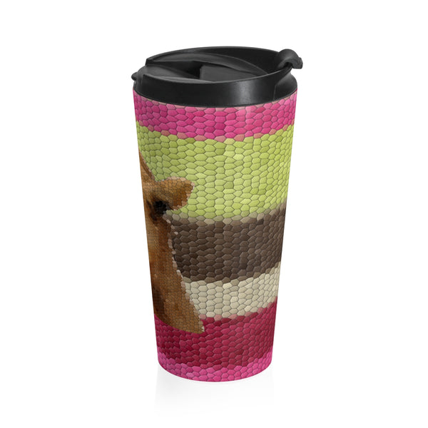 Geoffrey Bean Stainless Steel Travel Mug, Mug- WhimzyTees