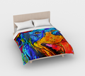 Rottie Smiles Duvet Cover