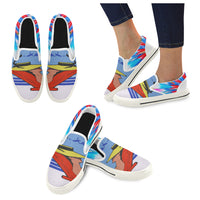Relax Go to IT! Blue Canvas Slip-ons (Unisex) - WhimzyTees