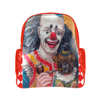Clowning Around Vegan Leather Backpack, Backpacks- WhimzyTees