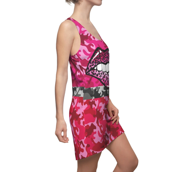 Leopard Flash Racerback Dress, Dress- WhimzyTees