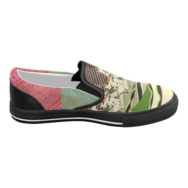 CanCan Girls Canvas Slip-ons, Shoe- WhimzyTees