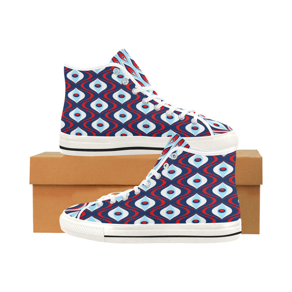 Court Jester Hi-Tops (Blue) - WhimzyTees
