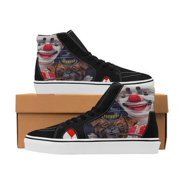 Clowning Around Suede Hi-Top Skate Shoe