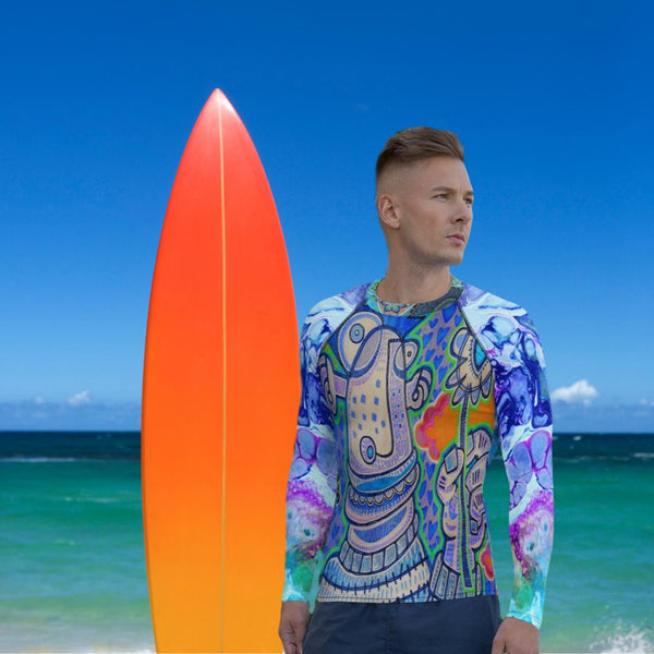 Limited Edition | Art | Mr Hydde - Love You Rash Guard (Men's), Mr Hydde- WhimzyTees