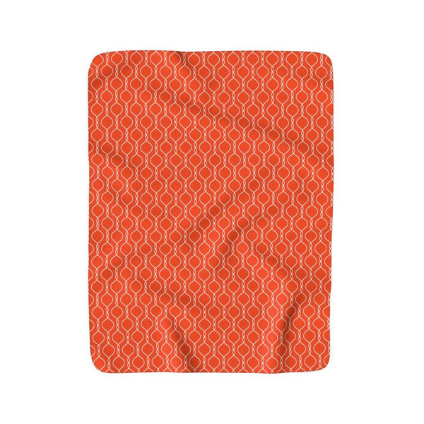 Orange Delight Sherpa Blankie, Blanket- WhimzyTees