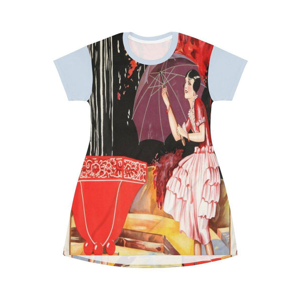 La Parapluie T-shirt Dress, Dress- WhimzyTees