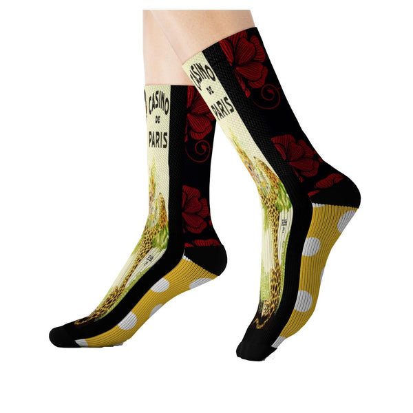 Casino Paris Socks, Socks- WhimzyTees