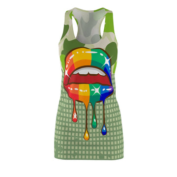 Rainbow Kiss Racerback Dress