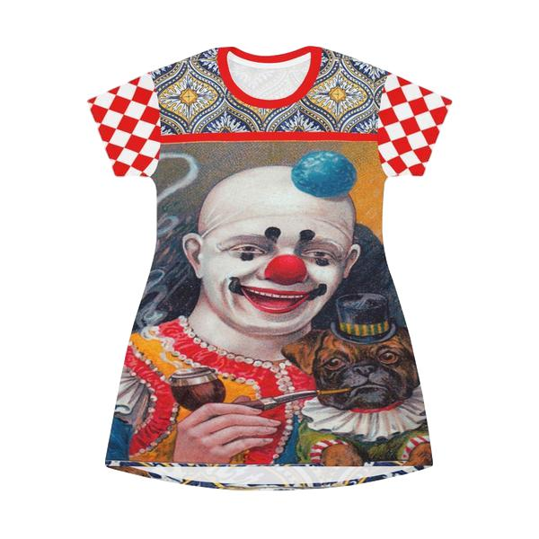 Clowning Around T-shirt Dress - WhimzyTees