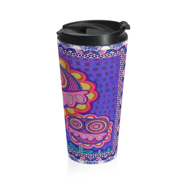 Limite Limited Edition | Art |Mr Hydde - Okinawa FLOWRZ Stainless Steel Travel Mug - WhimzyTees