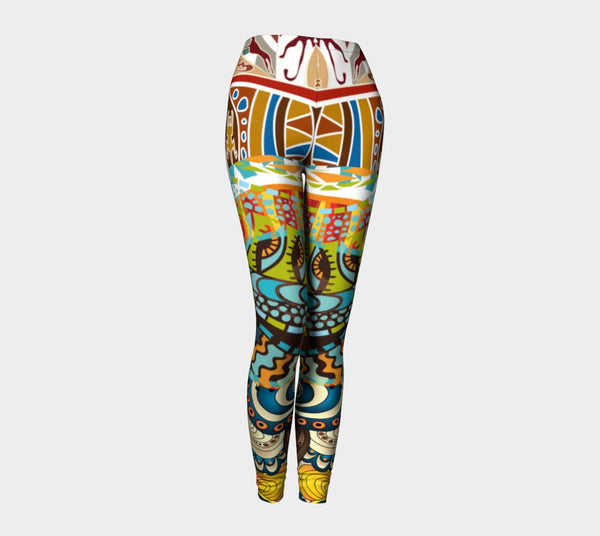 Tabata Eyes Compression Leggings, Leggings- WhimzyTees