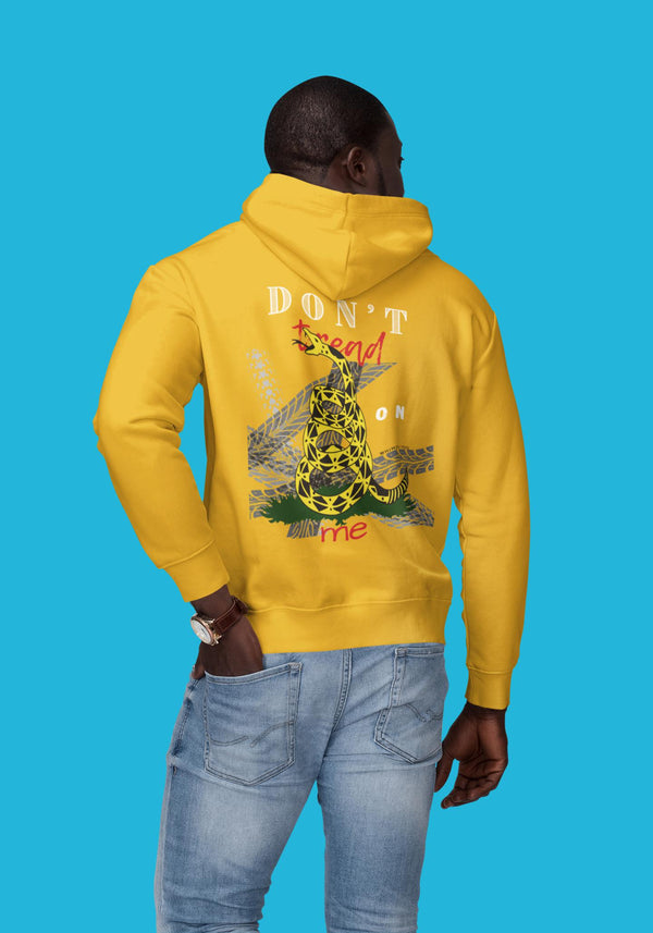 Don't Tread on Me/Be Heard Hoody, Flipit Red- WhimzyTees