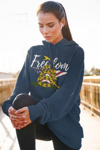 Don't Tread on Me Hoody, Flipit Red- WhimzyTees