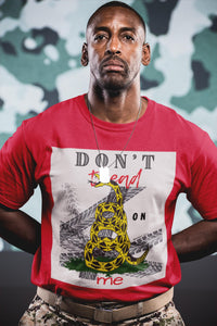 Don't Tread on Me - Original Tee, Flipit Red- WhimzyTees