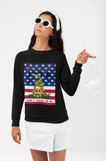 Don't Tread on Me/Liberty 1776 HD Crewneck Sweatshirt - WhimzyTees