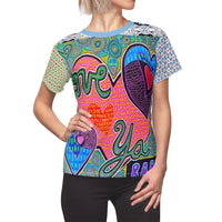 Limited Edition | Art |Mr Hydde - Love Ya Babe Top (Ladies), All Over Prints- WhimzyTees