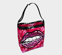 Leopard Flash Neoprene Tote, Bag- WhimzyTees