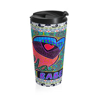 Limited Edition | Art |Mr Hydde - Love Ya Babe Stainless Steel Travel Mug - WhimzyTees