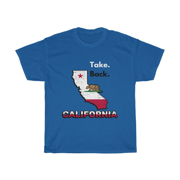 Take Back California Tee, Flipit Red- WhimzyTees