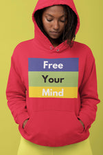 Free Your Mind/Diversity of Thought Hoody, Flipit Red- WhimzyTees
