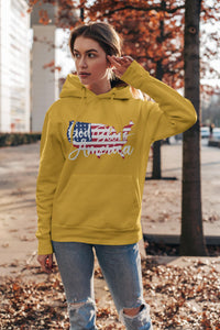 God Bless America Hoody, Flipit Red- WhimzyTees