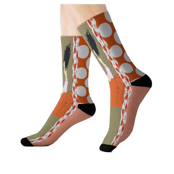 The Great Escape Polka Socks, Socks- WhimzyTees